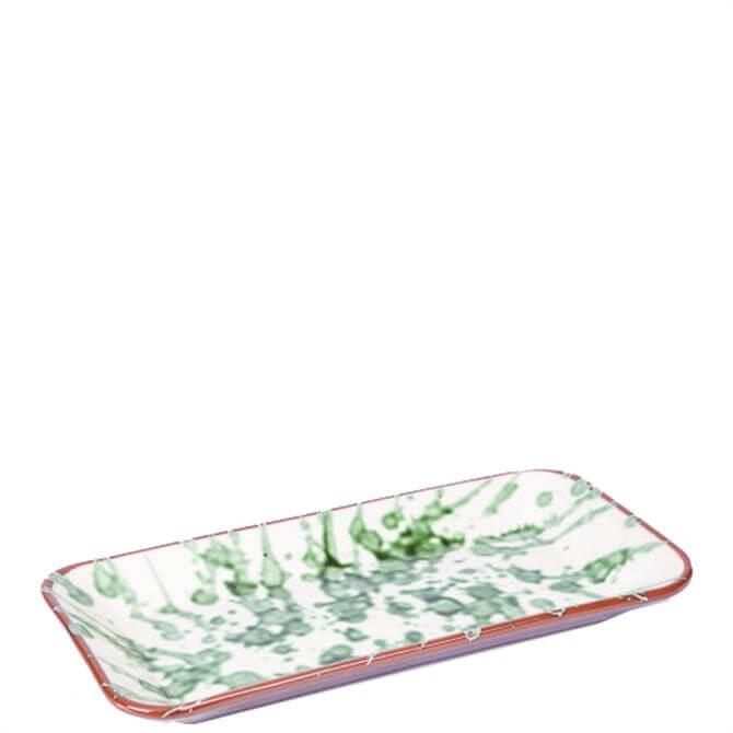 ABS Green Splatter Rectangular Platter