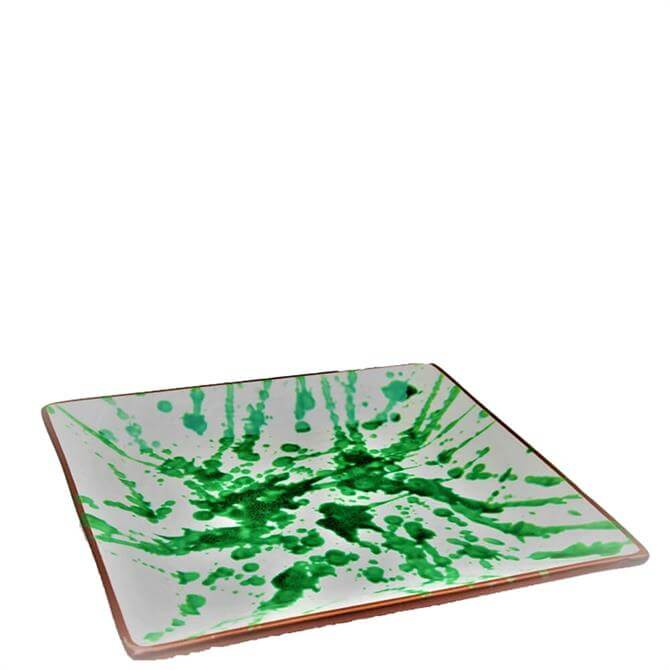 ABS Green Splatter Square Platter