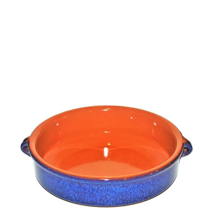 ABS Terracotta Emilio Reactive Blue Round Dish 25cm