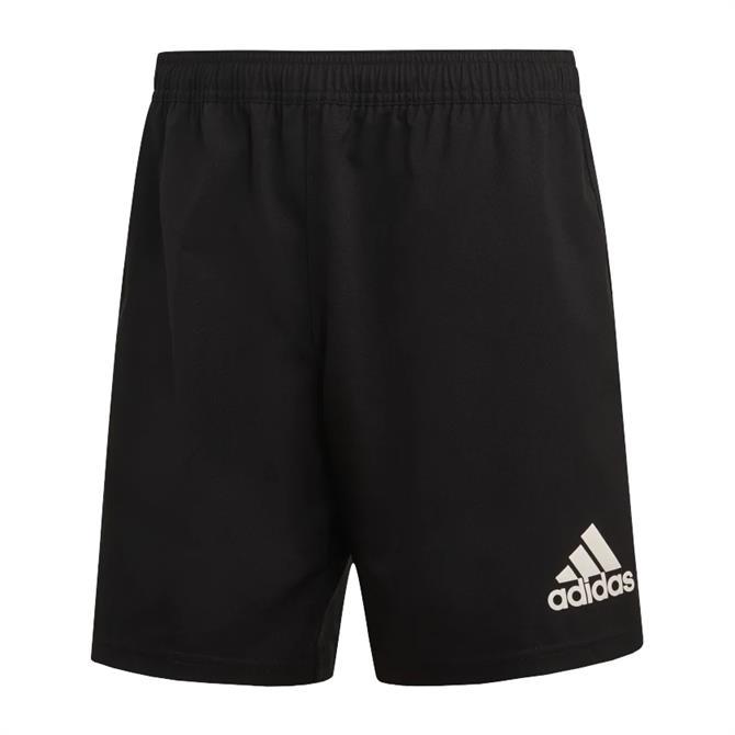 Adidas 3-Stripes Rugby Shorts - Black/White