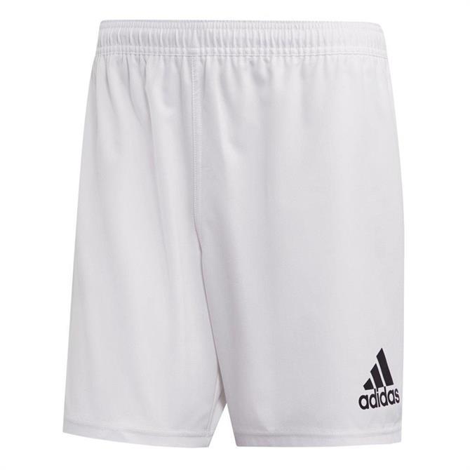 Adidas 3-Stripes Men's Rugby Shorts - White/Black