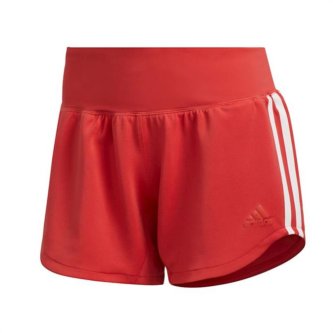 Adidas 3-Stripes Women's Gym Shorts - Red