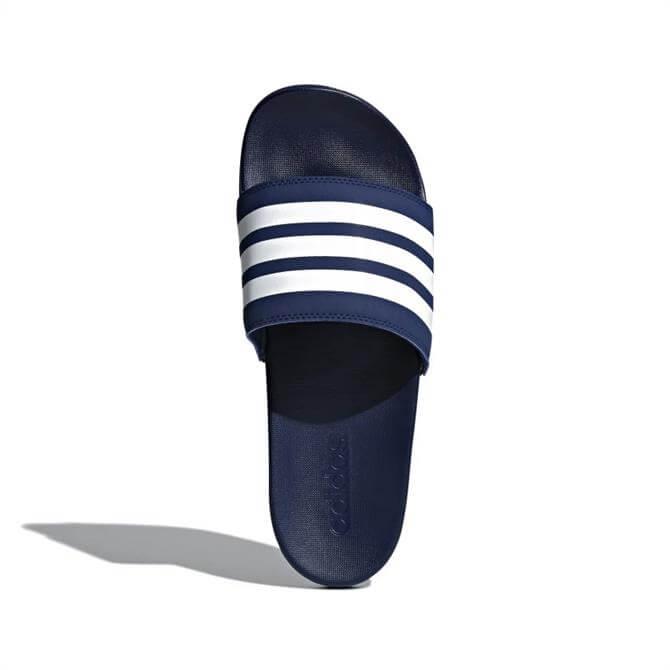 Adidas Adilette Comfort Slides - Navy/White