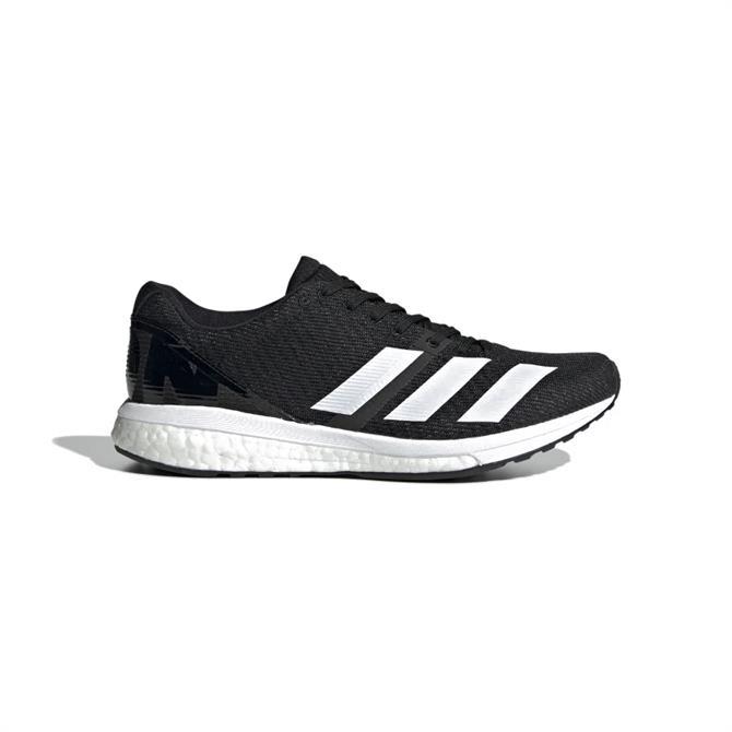 Adidas Women's Adizero Boston 8 Running Shoe - Black/White