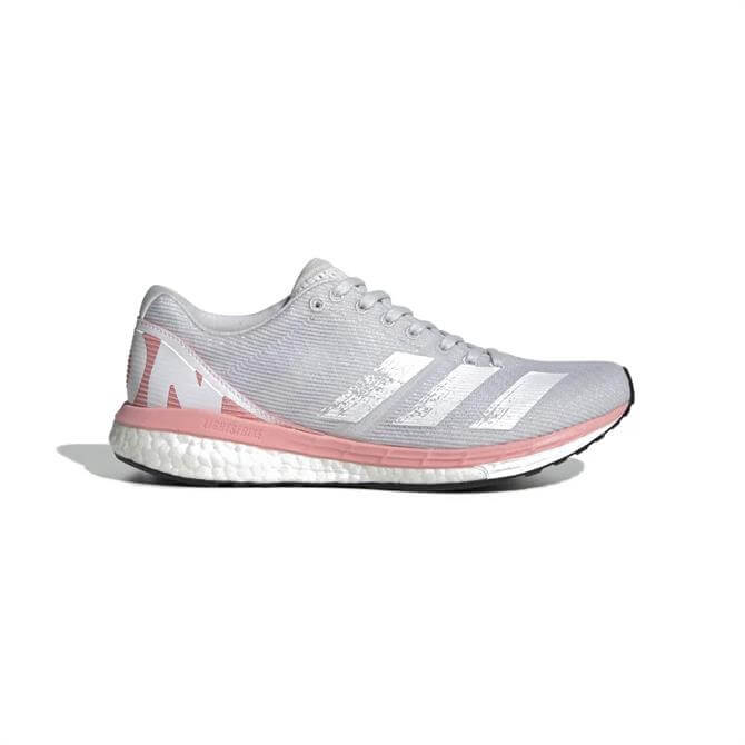 Adidas Adizero Boston 8 Women's Trainer - Grey/Pink