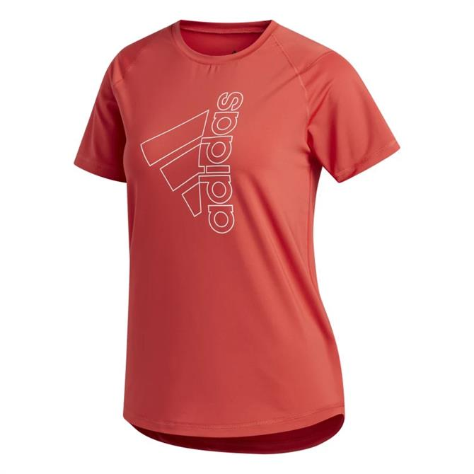Adidas Badge of Sport Women's T-Shirt - Red