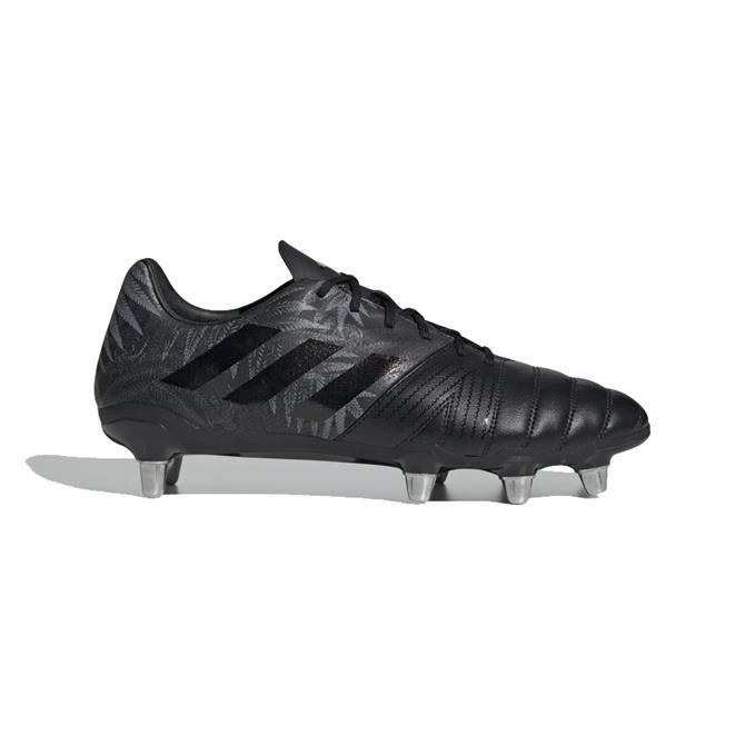 Adidas Kakari Soft Ground Rugby Boots - Black/Black
