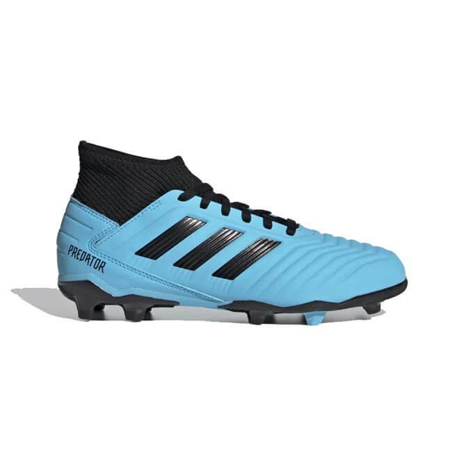 Adidas Kid's Predator 19.3 FG Football Boots - Bright Cyan