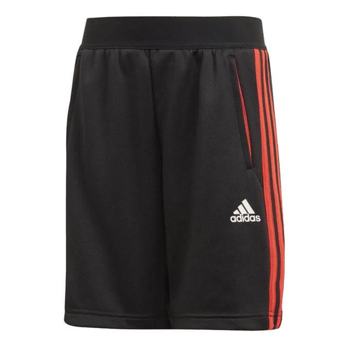 Adidas Kid's Predator 3-Stripes Shorts - Black/Red