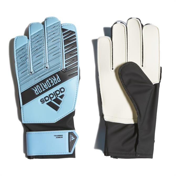 Adidas Kid's Predator Training Goalkeeper Gloves - Cyan/Black