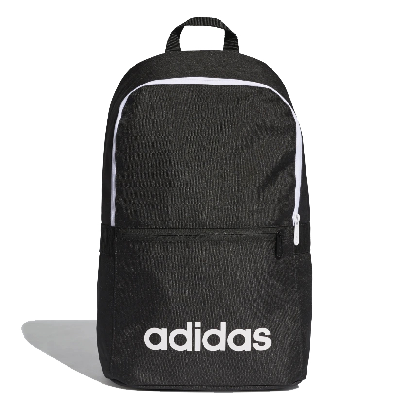 An image of Adidas Linear Classic Daily Backpack - Black - NS, BLACK/BLACK/WHITE