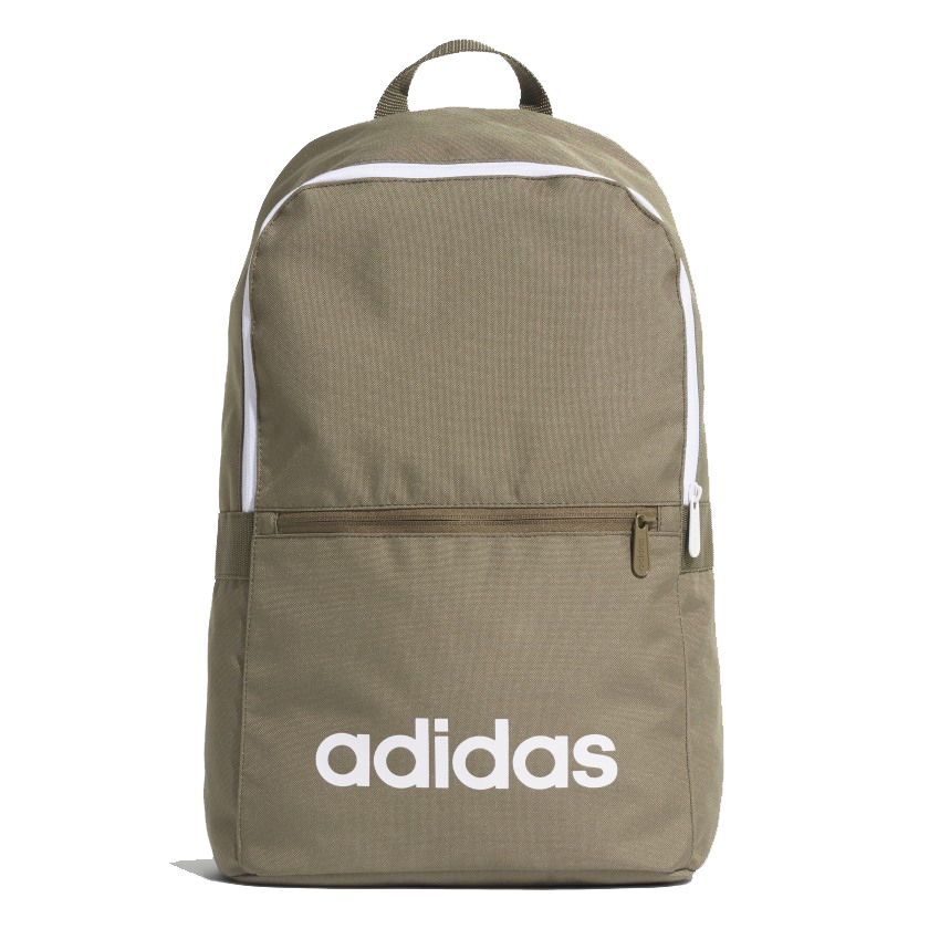 An image of Adidas Linear Classic Daily Backpack - Khaki - NS, RAWKHA/WHITE/WHITE