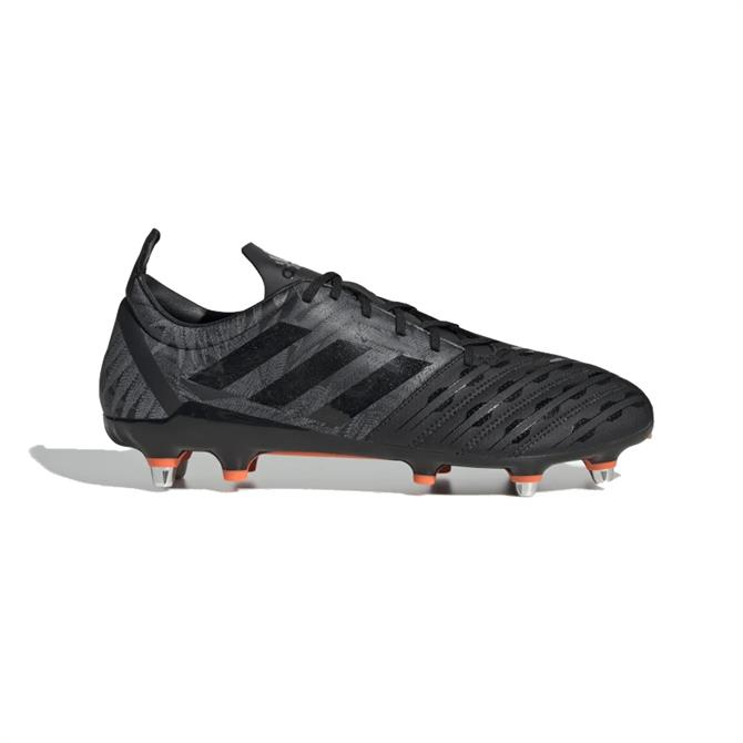 Adidas Malice Soft Ground Rugby Boots - Black/Orange
