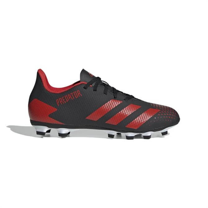Adidas Predator 20.4 Adults' FxG Football Boots - Black/Red