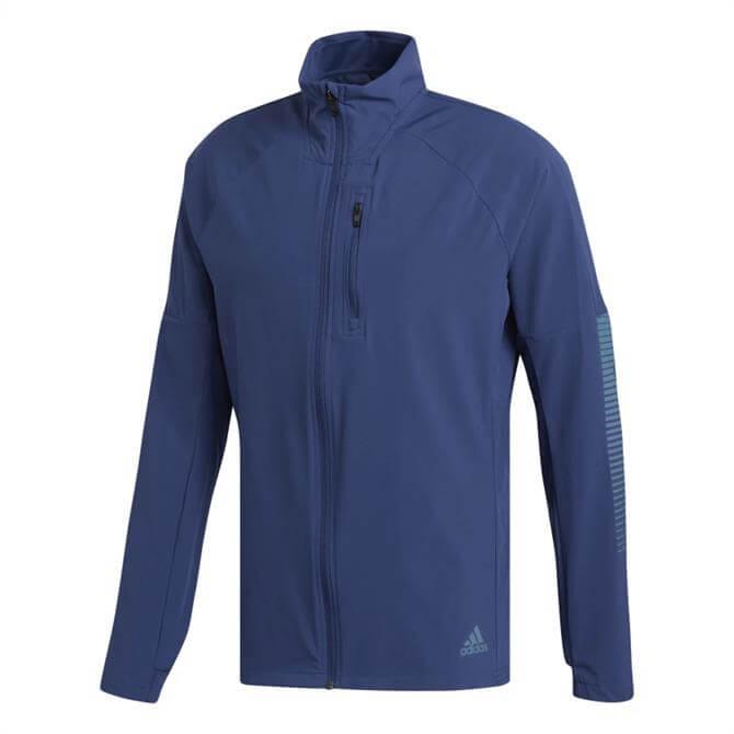 Adidas Rise Up N Run Men's Jacket - Blue