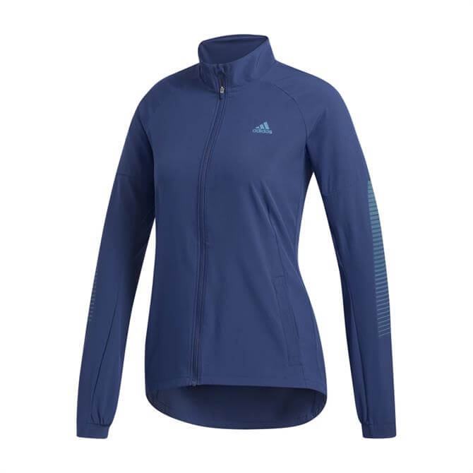 Adidas Rise Up N Run Women's Jacket - Blue