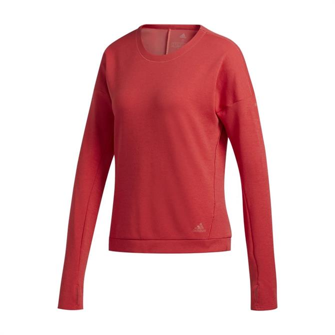 Adidas Supernova Run Women's Sweatshirt - Red