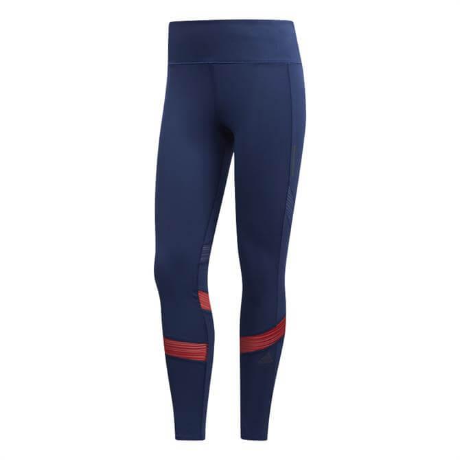 Adidas How We Do Women's 7/8 Leggings - Blue/Red