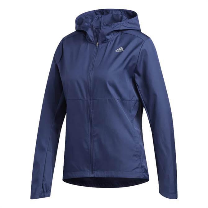 Adidas Women's Own The Run Hooded Windbreaker - Blue