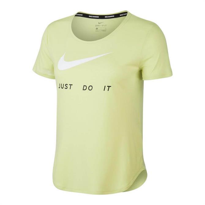 Nike Swoosh Women's Running Top - Lime