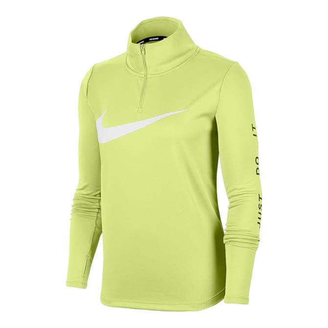 Nike Women's 1/4 Zip Running Top - Lime