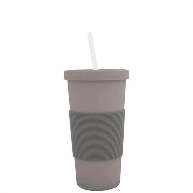 Grey Bamboo Mug with Straw