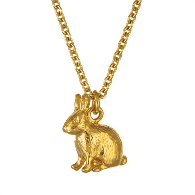 Alex Monroe Sitting Bunny Necklace