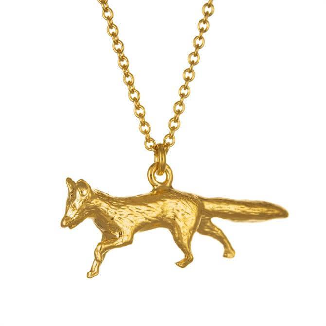 Alex Monroe Gold Prowling Fox Necklace