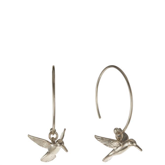 Alex Monroe Hummingbird Hoop Earrings