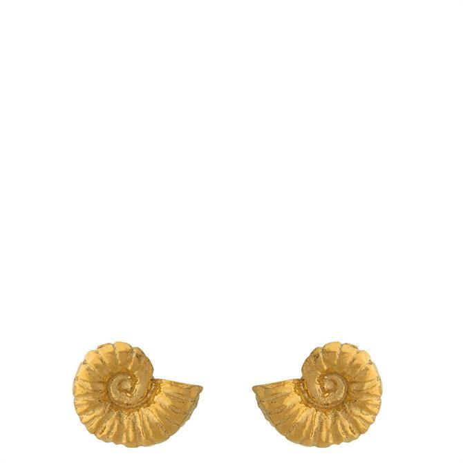 Alex Monroe Ammonite Stud Earrings