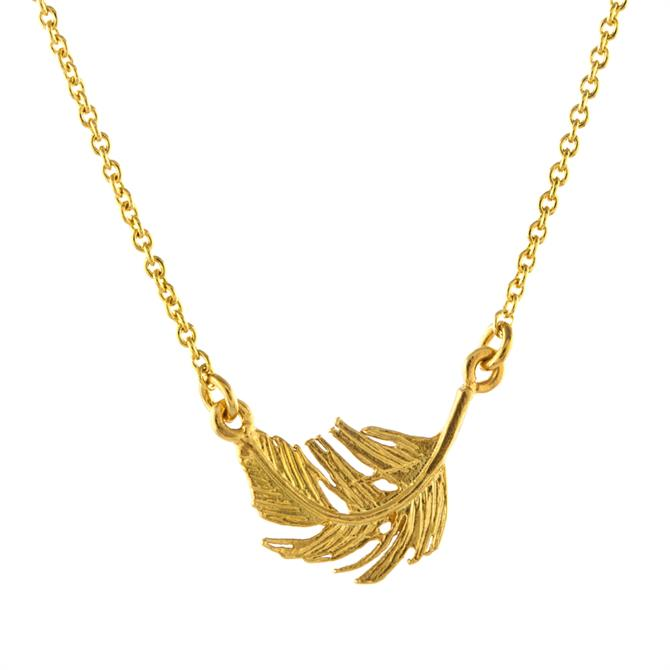 Alex Monroe Little Feather Inline Necklace