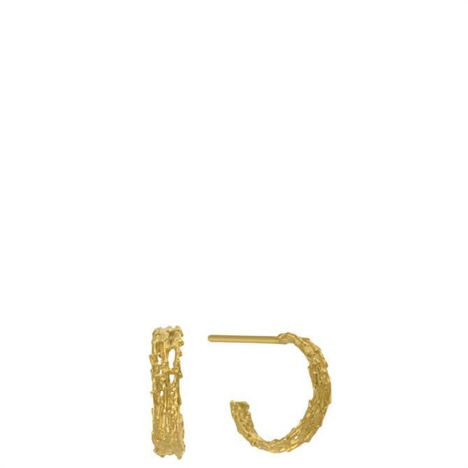 Alex Monroe Gold Nest Structure Mini Hoop Earring