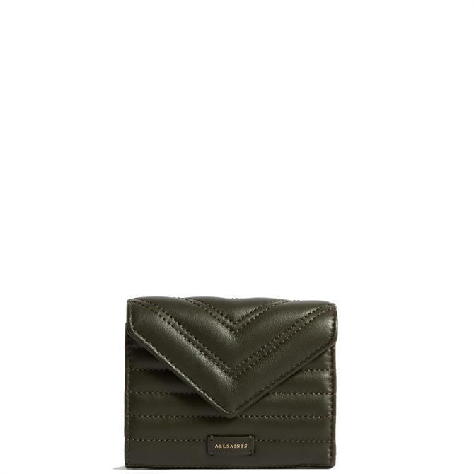 AllSaints Justine Flap Leather Cardholder