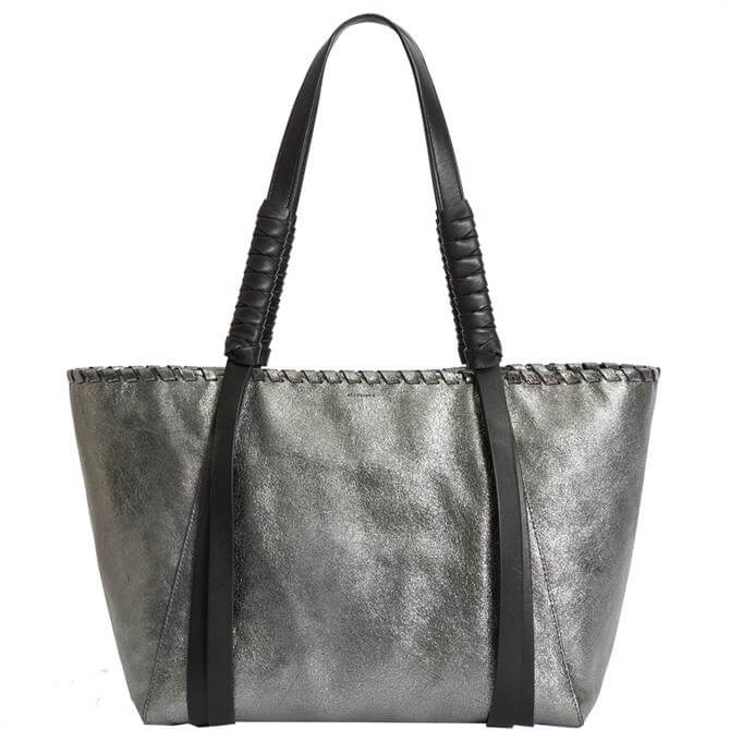 AllSaints Miki Lea Small Leather East West Tote Bag