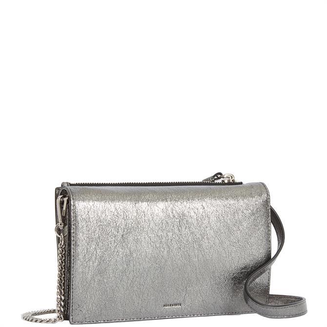 AllSaints Miki Lea Leather Wallet Crossbody Bag