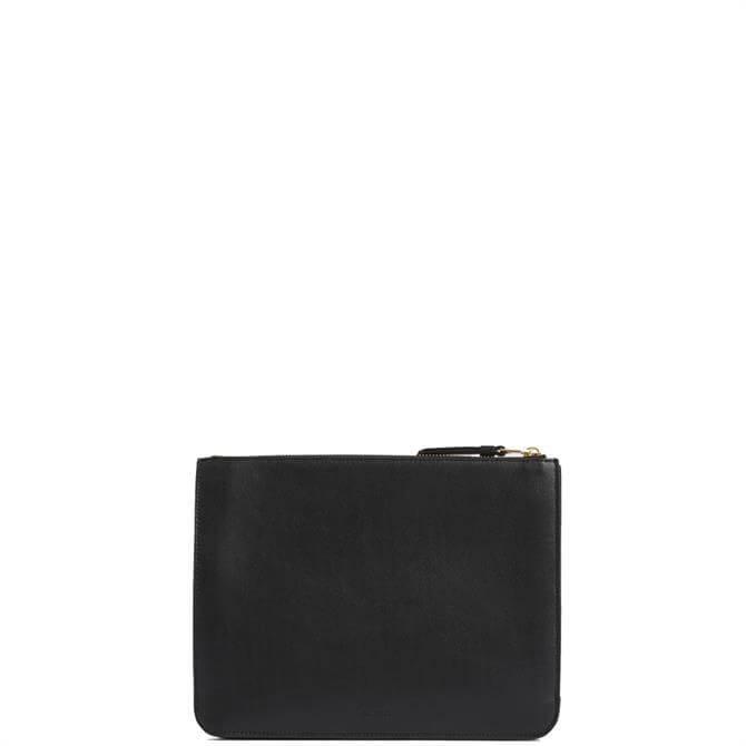 AllSaints Denbigh Black Leather Wallet