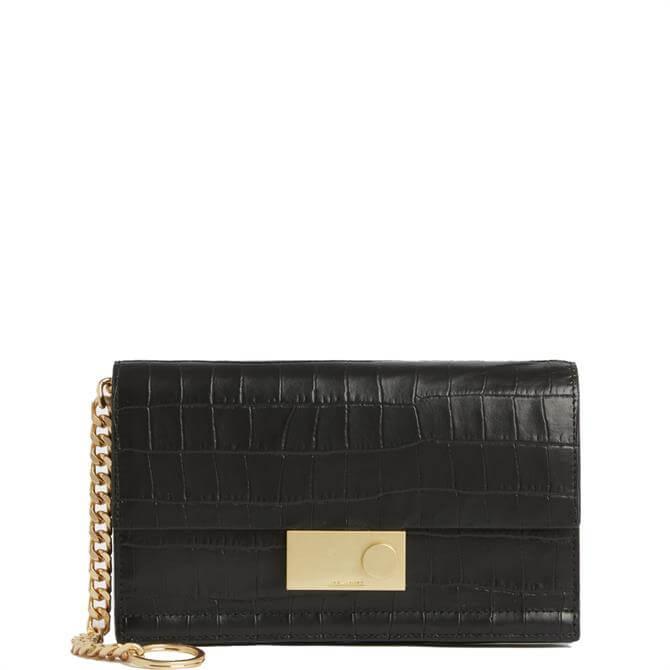 AllSaints Hercules Crocodile Leather Wallet