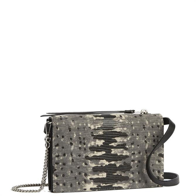 AllSaints Claremount Chain Leather Crossbody Bag