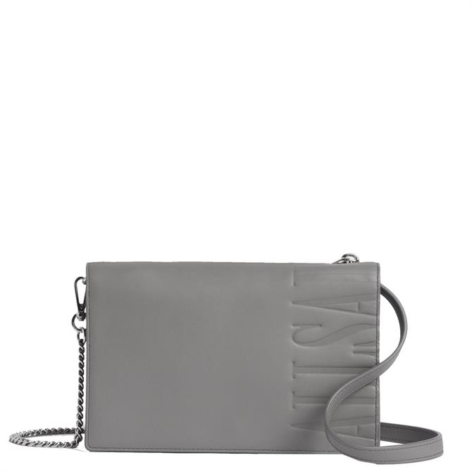 AllSaints Roman Chain Leather Wallet Crossbody Bag