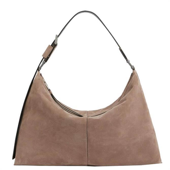 AllSaints Edbury Suede Shoulder Bag