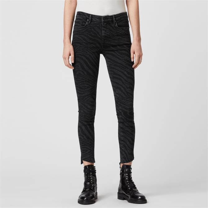 AllSaints Grace Seebra Ankle Skinny Mid-Rise Jeans