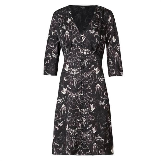 AllSaints Kota Somnium Printed Short Dress