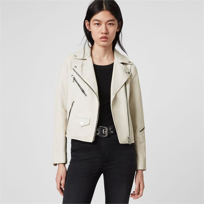 AllSaints Riley Leather Biker Jacket