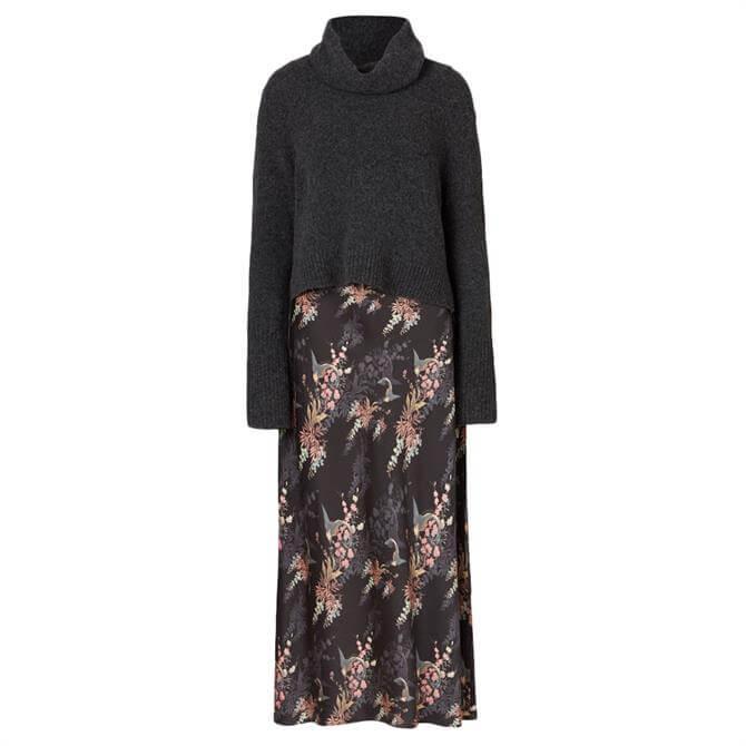 AllSaints Tierny Melisma 2-in-1 Floral Print Dress