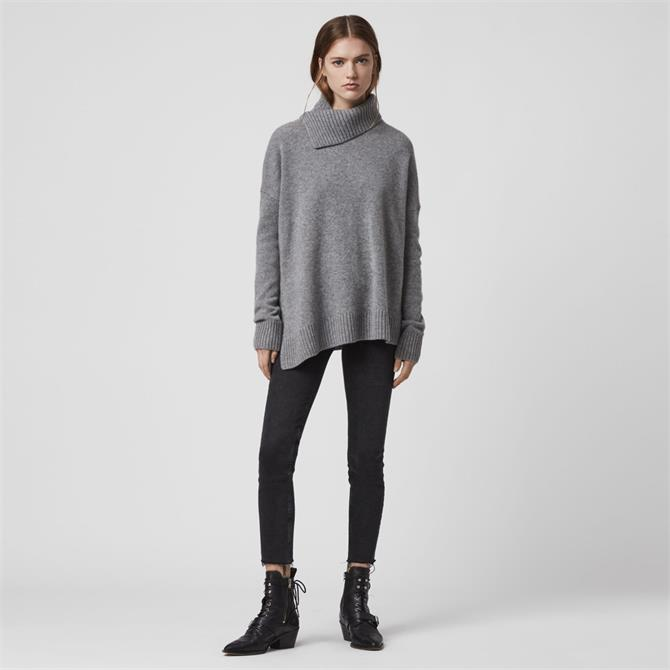 AllSaints Witby Roll Neck Cashmere Jumper