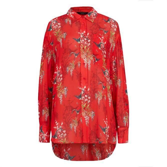 AllSaints Bernie Melisma Floral Shirt