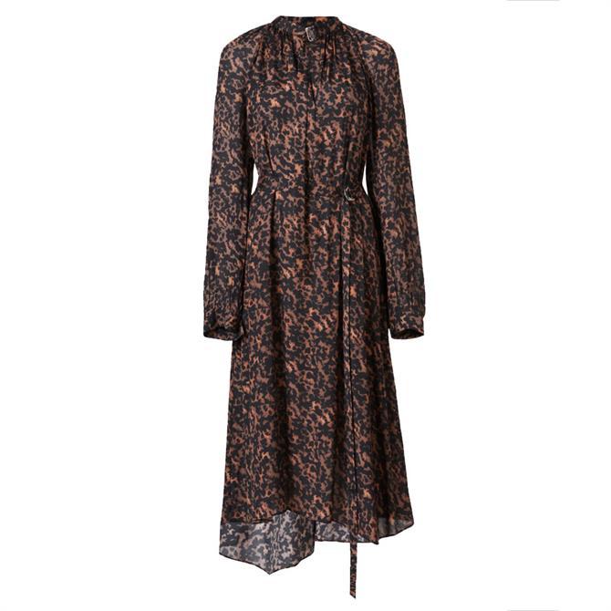 AllSaints Nina Torto Midi Dress