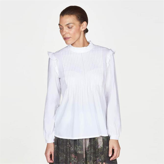 Thought Gertie Organic Cotton Modal Frilled Pintuck Blouse