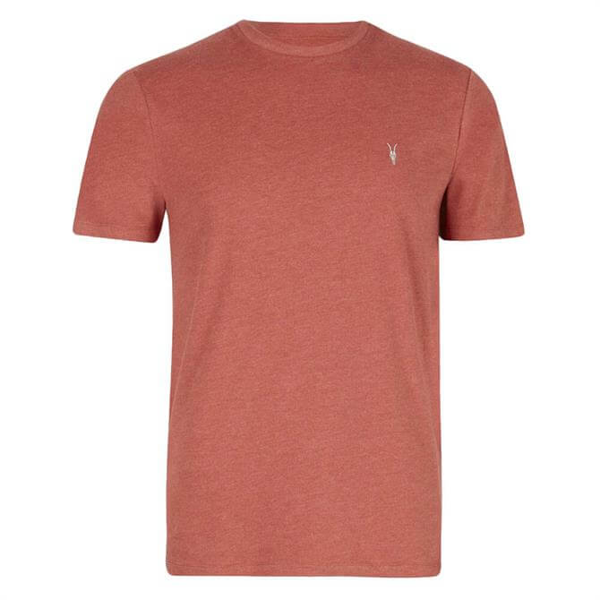 AllSaints Brace Crew Neck Marais Red Marl T-Shirt