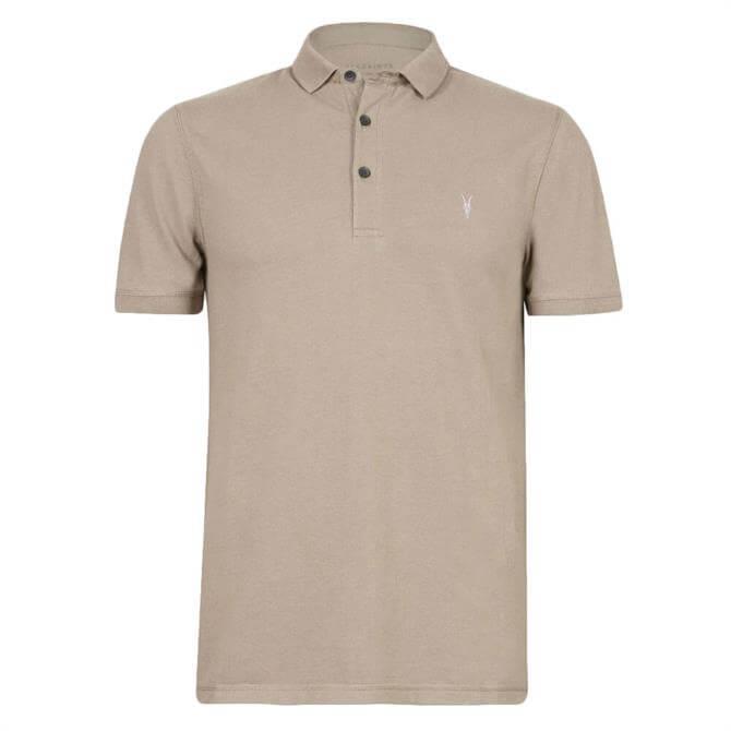 AllSaints Reform Short Sleeved Brown Polo Shirt